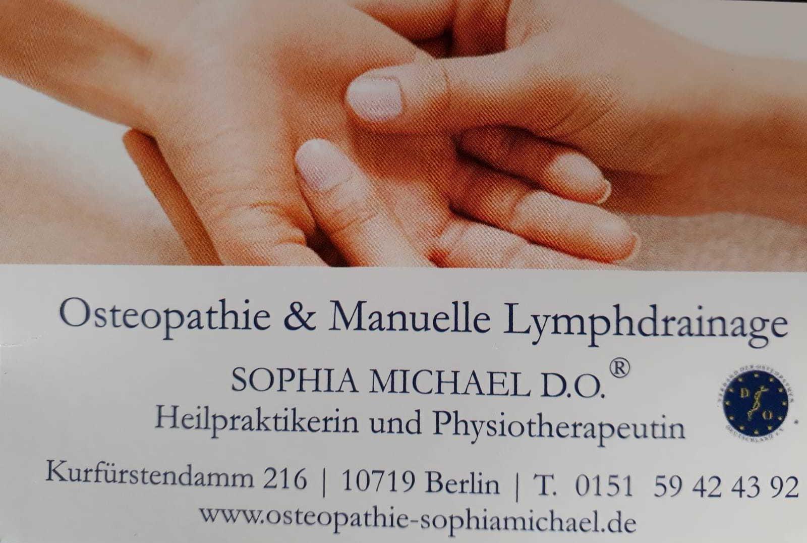 Osteopathie & Manuelle Lymphdrainage - Heilpraktikerin und Physiotherapeutin Sophia Michael D.O.