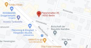 Kartenausschnitt-Platanenallee39-14050-Berlin-Prxis-fuer-Brustkrebstherapie-PD-dr-med-Friederike-Siedentopf
